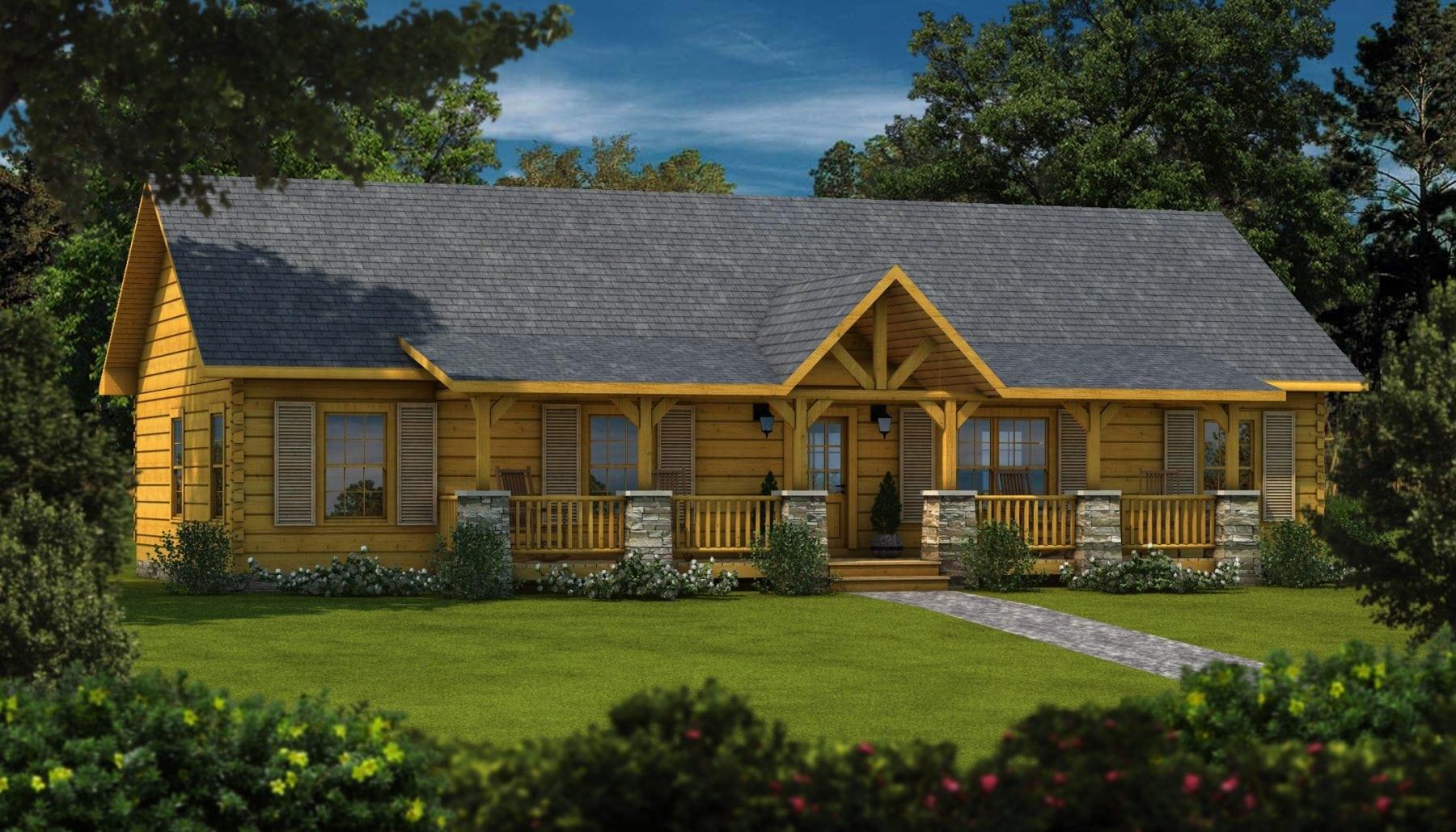 Floor Front Elevation Kit : Laurens ii plans information log cabin kits