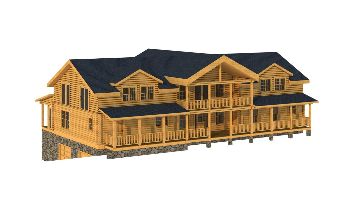 Floor Front Elevation Kit : Bledsoe plans information log cabin kits