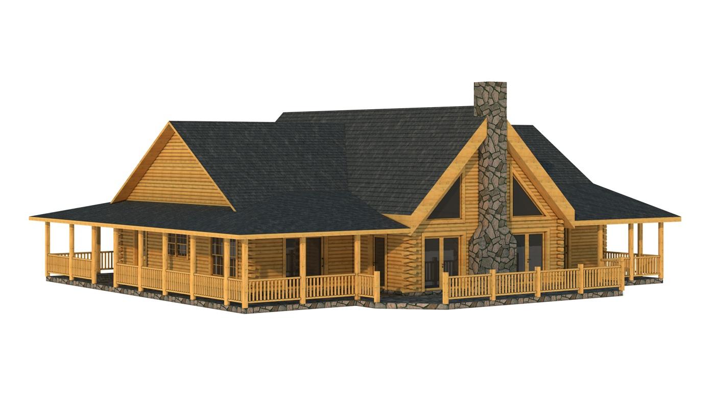 Floor Front Elevation Kit : Campbell plans information log cabin kits