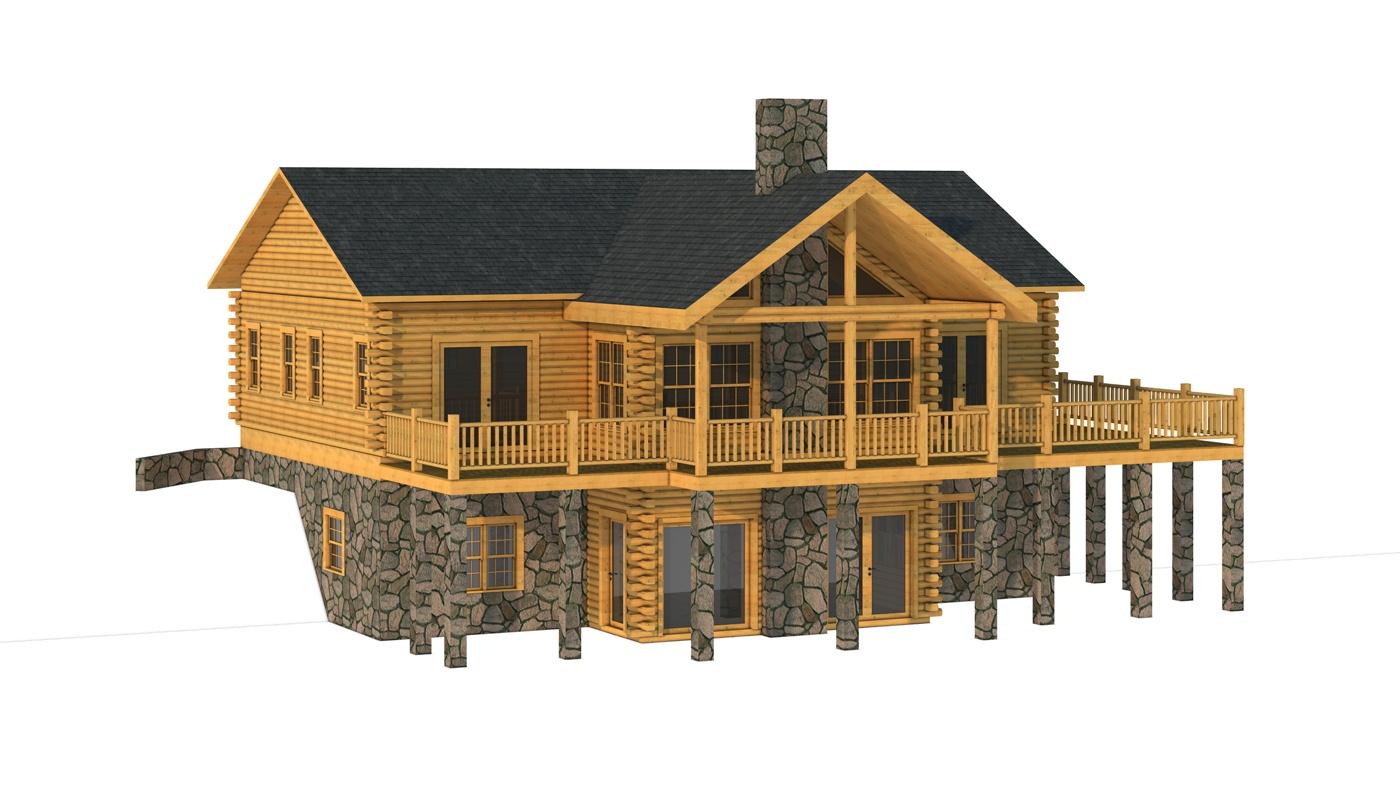 Floor Front Elevation Kit : Hanover plans information log cabin kits