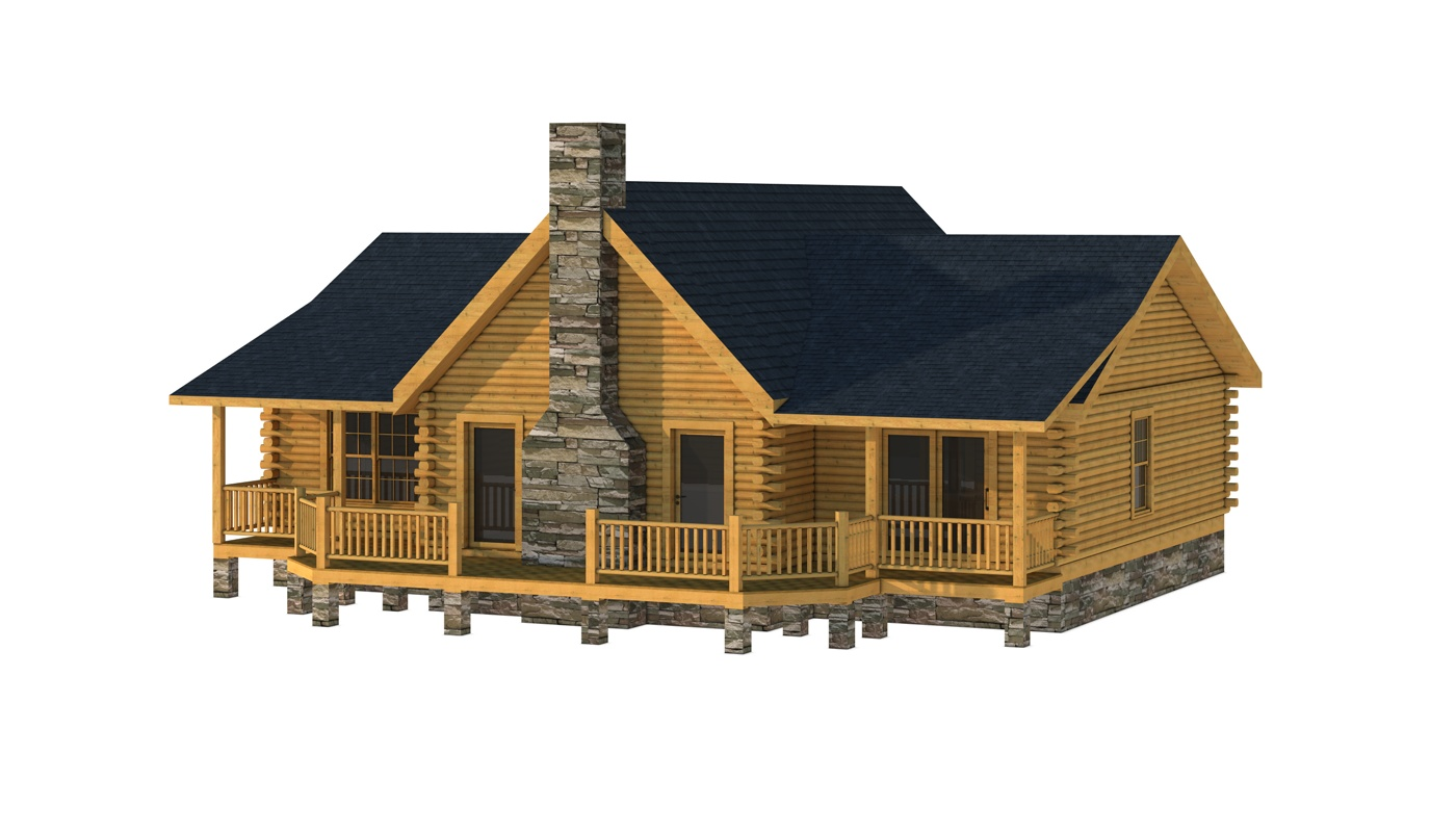 Small Log Cabin Kit Homes Small Log Cabin Floor Plans: Jerome - Plans & Information