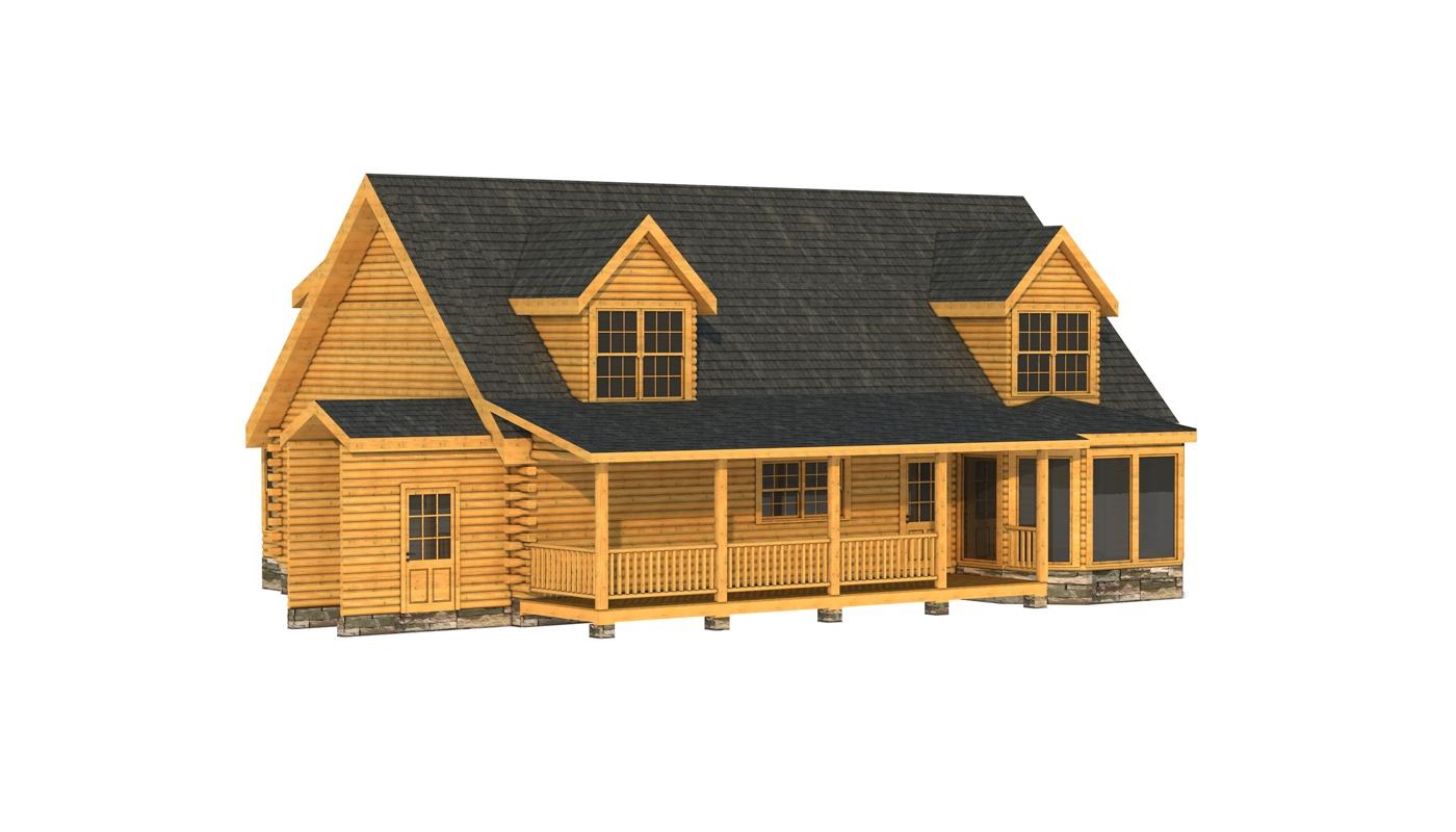 Floor Front Elevation Zip : Marshall plans information log cabin kits